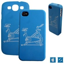 Silicone Phone Case w/Debossed and Color Filled Logos