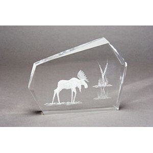 "4""x6""x1"" Hand-Carved Faceted Acrylic Award"