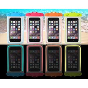 "Luminous Waterproof Bag for Cell Phone (iPhone 6plus or Universal Size 5.8"")"