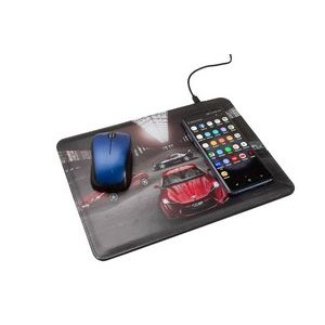 Mouse Pad with Wireless Phone Charging