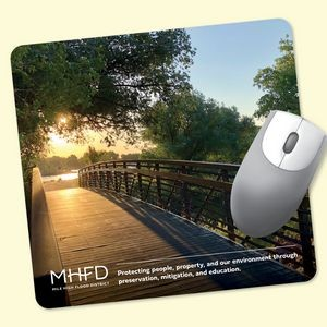 "ReTreads® 7.5""x8""x3/32"" Recycled Hard Surface Mouse Pad"