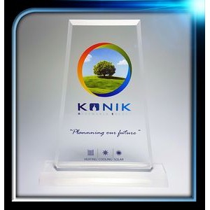 "Frosted Series Acrylic Trapezoid Award w/Base (5""x7""x3/8"")"