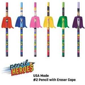 PENCIL HEROES™ #2 Pencils w/ Caped Eraser