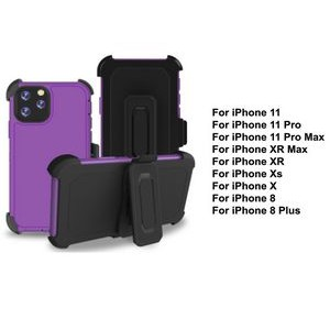 iBank® iPhone 11 Shockproof Case with Belt Clip and a kickstand (Purple)