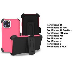 iBank® iPhone 11 Shockproof Case with Belt Clip and a kickstand (Pink)