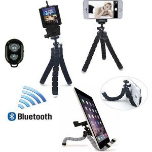 iBank® Universal Tripod + Bluetooth Shutter for Smartphones and Tablets (Black)