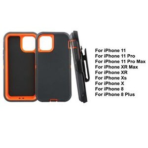 iBank® iPhone 11 Pro Max Shockproof Case with Belt Clip and a kickstand (Orange)