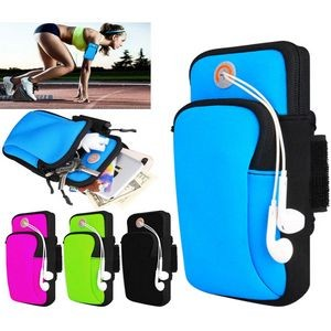 iBank(R) Sports Running Arm Band Bag Case for Smartphones (Blue)