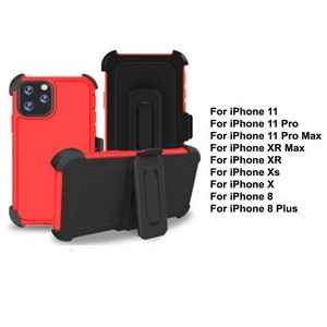 iBank® iPhone 11 Shockproof Case with Belt Clip and a kickstand (Red)