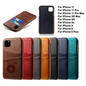 iBank(R) Credit Card Holder PU Leatherette Case for iPhone 11