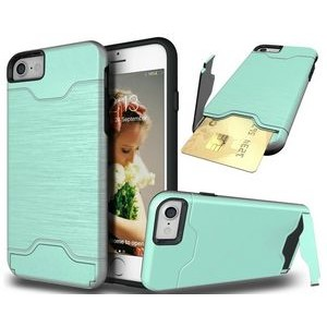 "iBank(R) Credit Card Slot Case (Green) with Kickstand for iPhone 7/8 Plus (5.5"")"