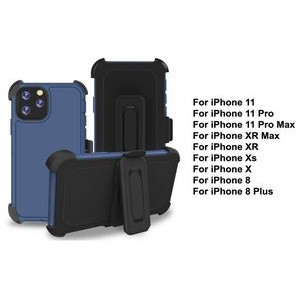 iBank® iPhone 11 Shockproof Case with Belt Clip and a kickstand (Blue)
