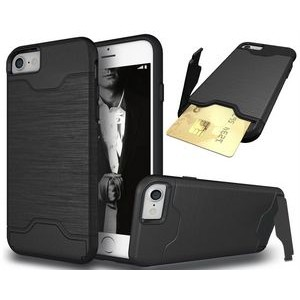 "iBank(R) Credit Card Slot Case (Black) with Kickstand for iPhone 7/8 Plus (5.5"")"