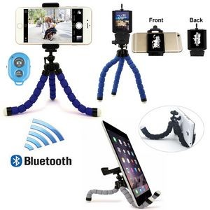 iBank® Universal Tripod + Bluetooth Shutter for Smartphones and Tablets (Blue)