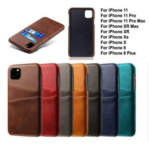 iBank(R) Credit Card Holder PU Leatherette Case for iPhone 11 Pro Max